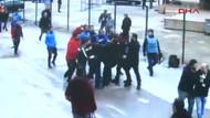 Başakşehir'li futbolculardan maç sonrası gazeteciye saldırı!