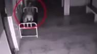 Kadının ölümünden 14 saniye sonra kameraya yansıyan şok görüntüler