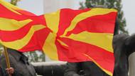 Makedonya'daki cami duvarına Haçlı saldırı
