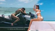 Kendall Jenner ve Bella Hadid'den tatilde seksi pozlar