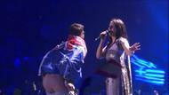 Eurovision finalinde şok: sahneye atladı ve pantolonunu indirdi