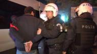 Açlık grevine destek eylemine polis müdahalesi