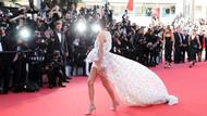 Kendall Jenner cesur elbisesiyle Cannes galasında