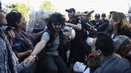 Son dakika: Beşiktaş'ta açlık grevine destek eylemine polis müdahalesi