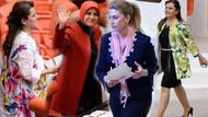 TBMM'de bahar şıklığı.. Kadın vekiller Meclis'i çiçek bahçesine çevirdi