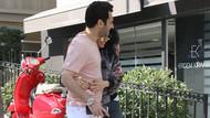 Murat Yıldırım ile eşi İmane Elbani sokakta sarmaş dolaş