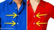Neden düğmeler kadın gömleklerinde sol erkek gömleklerinde sağda?