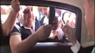 Erdoğan'ın makam arabasından canlı yayın yaptı: Ey Türkiye...