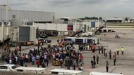 Havaalanı boşaltıldı! 1 polis yaralandı