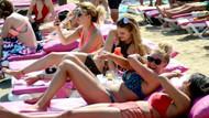 Bodrum'da bayram öncesi sahiller doldu taştı