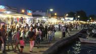 Tatilciler bayramda Cunda Adası'na akın etti