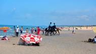 Şile plajında güvenlik atlı jandarmaya emanet