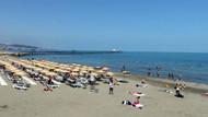 Samsun'da denize akın