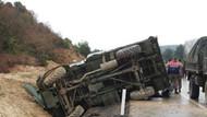 Kilis'te askeri araç devrildi: 1 şehit, 1 yaralı