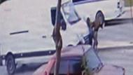 Korkunç kazada 2 genç kız 50 metre savruldu