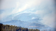 Alanya'daki orman yangını 24 saattir devam ediyor
