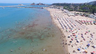 Yüksek sıcaklık nedeniyle Şile plajları doldu taştı