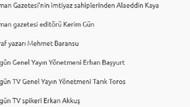 İşte ByLock kullanan gazetecilerin isim isim listesi