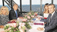 Macron, Trump için Eyfel'i kapattı