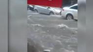İstanbul metrosunu sel bastı! İnanılmaz görüntüler