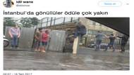 İstanbul'daki şiddetli yağmur sosyal medyayı salladı