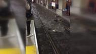 Metro durakları ve metrobüs yolları göle döndü