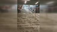 İstanbul Metrosundan şaşırtan sel görüntüleri