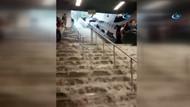 Şok görüntü: İstanbul'da metro merdivenleri şelaleye döndü!