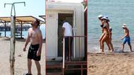 Antalya'nın ünlü halk plajında tuvaletler kullanılamayacak halde!