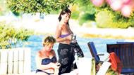 73 yaşındaki Nebehat Çehre bikinili yakalandı