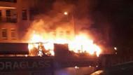 Ankara'da lastikçi dükkanında yangın panik yarattı