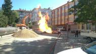 Ankara'da doğalgaz borusu patladı