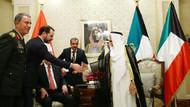 Erdoğan ve Kuveyt Emiri Şeyh Sabah'ın kritik görüşmesi