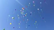 Cumhuriyet davası öncesi balonlu eylem