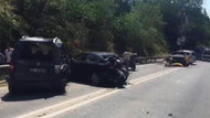 Halk otobüsü 9 otomobile çarptı! Yaralılar var