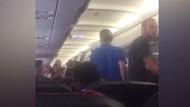 THY uçağında karı-koca kavgası kamerada