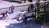 Büyükerşen'e saldırı anı güvenlik kamerasında