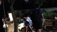 Özel güvenlikçi dekolteli genç kızı parktan atmak istedi