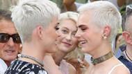 Katy Perry ile Cara Delevingne saç modelleriyle pişti oldu