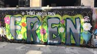 Taksim'de İyi ki varsın Eren graffitisi