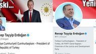 Cumhurbaşkanı'nın Twitter hesabındaki cumhuriyet gitti!