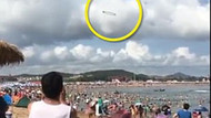 Siyah ve yuvarlak cisim UFO paniği yarattı