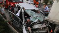 TEM'de facia: Emniyet şeridinde duran TIR'ın altına girdi: 4 ölü