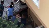 Apartmanda genç kıza tekme tokat saldırı