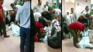 Hasta kadın saatlerce yerde kaldı.. Ağrı Devlet Hastanesinde skandal görüntüler!