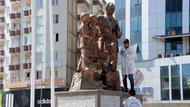 Diyarbakır'da Atatürk Anıtı'na çirkin saldırı