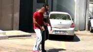 Derya Kılıç ve Seray Gürer'i taciz eden motosikletli kamera görüntüsünden yakalandı