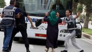 Cumhurbaşkanıyla konuşmak isteyen kadın yanlış otobüsün önüne atladı