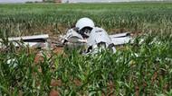 Viranşehir'de mısır tarlasına düşen İHA da Amerika'nın çıktı