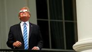 Trump'ın güneş tutulması görüntüleri sosyal medyayı salladı